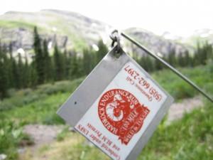 Hardrock 100 trail marker